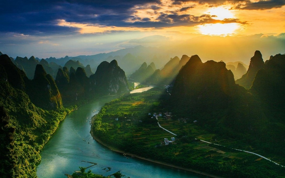 241610-landscape-nature-mountain-river-sun_rays-clouds-village-mist-China-sunset-field.jpg